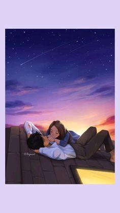 Couples Anime, Romantic Anime Couples, Cute Couples, Image Couple, Cute Couple Art, Cute Love Couple Images, Cute Couple Drawings, Cute Couple Cartoon, Anime Couple Romantique