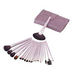 21 Pcs/set Pink Pro Makeup Brushes Set Make up Cosmetics Brush Eyeliner Eye shadow Eyebrow Lip Brush Cosmetic Tools