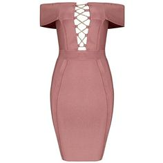 Sia Bandage Dress ($198) ❤ liked on Polyvore featuring dresses, body conscious dress, bodycon two piece, bodycon dress, red body con dress and two piece bodycon dresses