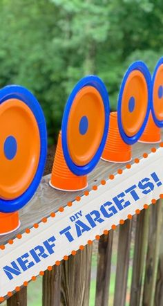 Need a spring or summer outdoor activity that the kids will love? Grab those Nerf blasters and make these easy and fun DIY Nerf Targets! This craft can be made without an adult's help and it's CHEAP. Nerf Birthday Party, Nerf Party, Outdoor Birthday, Carnival Birthday Parties, 10th Birthday, Birthday Ideas, Camo Birthday, Kids Party Games, Games For Kids