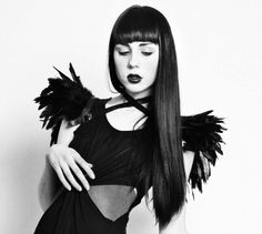 Versatile wings  black feather shrug harness / MetamorphDK