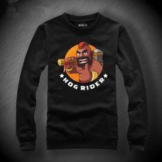 COC Clash of Clans sweatshirt Hog Rider fleece pullover black