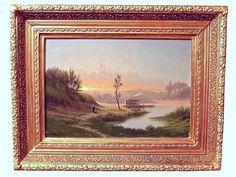 Живописный пейзаж. Барбизон. C.Lenglet. 19 в