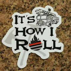 """Are you following @chief_miller... ? - CHECK IT OUT  New """" It's How I Roll """" decal Get one today at  http://ift.tt/2aftxS9  http://ift.tt/2aftxS9 . . .  #firetruck #firedepartment #fireman #firefighters #ems #kcco  #brotherhood #firefighting #paramedic #firehouse #rescue #firedept  #iaff  #feuerwehr #crossfit #chiveeverywhere #brandweer #pompier #medic #motivation  #ambulance #emergency #bomberos #Feuerwehrmann  #firefighters #firefighter #chiver #fire"""