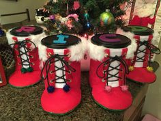 Coffee Container Santa Boots!