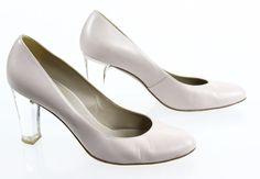 "Paule Ka Paris Pale Pink ""Lenty Pump"" Clear High Heel 7.5 #PauleKa #PumpsClassics #Formal"