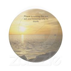 Peaceful Sunset Beverage Coasters