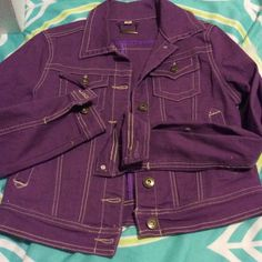 Purple denim jacket Brand new. Jou Jou Jackets & Coats Jean Jackets