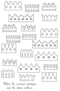 modèles couronnes des rois