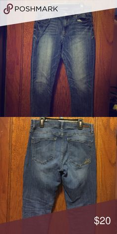 Blue jeans, gently used. Skinny blue jeans. Gently used. Express Jeans Skinny