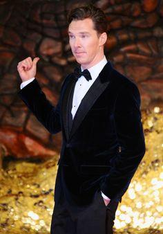 Benedict at the Hobbit 2 premiere in Berlin