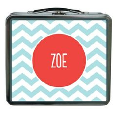 Personalized lunch box Chevron pool #room #decorations