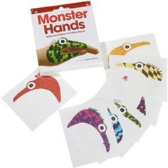 Monster Hangs Temporary Tattoo Hand Puppets