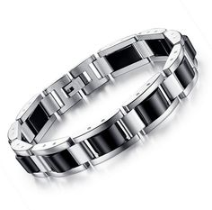 Willis Judd Mens Blue Carbon Fibre Titanium Magnetic Bracelet Double Strength Adjusting Tool and Gift Box Included
