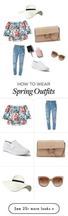 """spring outfit"" by leeli5a88 on Polyvore featuring Chloé, Levi's, Elizabeth and James, Steve Madden, STELLA McCARTNEY, Pilot and Chanel"