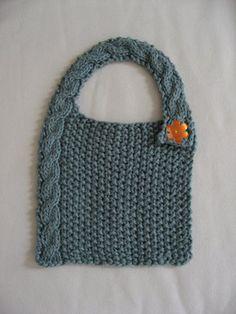 knit baby bib - Google Search