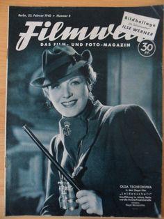 FILMWELT 8  - 23.Februar 1940 Olga Tschechowa Gustav Fröhlich La Jana Söderbaum picclick.com