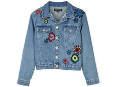 Make a statement this spring with this embroidered denim jacket #VeryExclusive