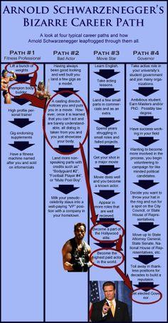 Arnold Schwarzenegger's Bizarre Career Path