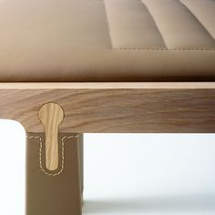 VASI bench - love the keyhole-shaped joint detail