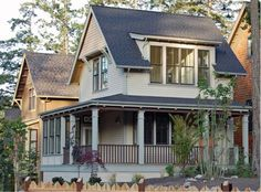 Arts & Crafts Style states that a Craftsman home can be easily recognized by a combination of exterior and interior features. Gabled roofs with decorative braces underneath, dormer windows, large overhanging eaves, exposed rafters and beams, a...