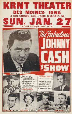 'The Johnny Cash Show' - Wonderful Glossy Print taken from a Vintage Country Music Poster Rock N Roll, Rock & Pop, Johnny Cash June Carter, Johnny And June, Country Music Stars, Country Singers, Country Artists, Johnny Cash Show, Rock And Roll History