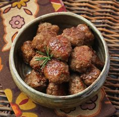 Bourbon & Cider Glazed Turkey Meatballs by ibreathehungry #Meatballs #Turkey #Bourbon #Cider #Healthy