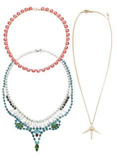 A trio of gemstones.
