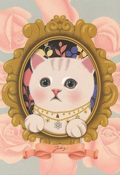 I Love Cats, Crazy Cats, Art Kawaii, Choo, Cat Wallpaper, White Cats, Cat Drawing, Cat Tattoo, Cat Art