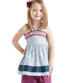 Matilda Jane Clothing - It's a Wonderful Parade - Sapphire Sky - Pontoon Halter Top
