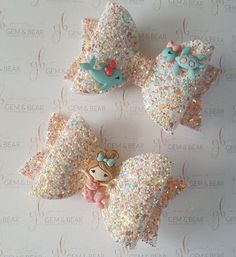 Pastel Hair Bow - Glitter and Velvet Hair Bow - Baby HeadbaGlitter With Stars Refferal: 5968004879
