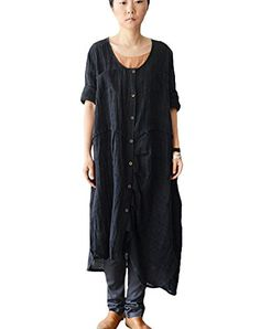 Minibee Women's Cotton Linen Long Irregualr Shirt Dress with Pockets Minibee http://www.amazon.com/dp/B011DNSF0O/ref=cm_sw_r_pi_dp_V.K7vb0SK90Q8
