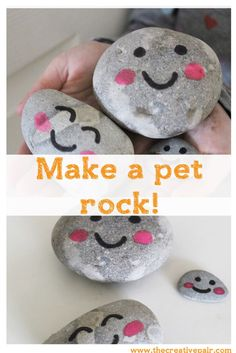 How to make a pet rock. Fun and easy craft for kids!