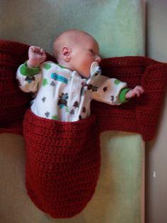 Crochet Pattern Hold Me Cocoon Swaddler PDF by browneyedgirl1489