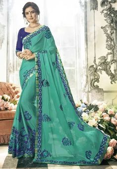 Indian Bollywood solide imprimé sari multicolore en lin Designer Sarees