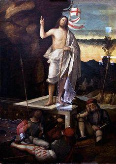 Marco Basaiti, Resurrezione di Cristo, XVI sec., olio su tela | Silvia Baldis restauri