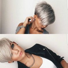 "9,017 Likes, 121 Comments - Short Hairstyles Pixie Cut (@nothingbutpixies) on Instagram: ""Do you follow @mademoisellehenriette ?? Do you love this cut or color.??"""