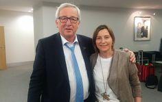 La foto que la diplomàcia espanyola no volia: Forcadell saluda el president de la Comissió Europea | NacióDigital