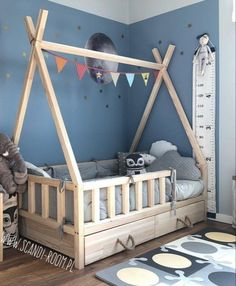 Kinder zimmer (notitle) - Kids bedroom - - wiegenfest When Boy Toddler Bedroom, Toddler Rooms, Baby Bedroom, Baby Boy Rooms, Baby Room Decor, Nursery Room, Kids Bedroom, Toddler Beds For Boys, Girl Rooms