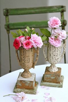transforming cheesy trophies with paper ~ via Pam Garrison ~ imagine all the possible applications for any other cheesy plastic trinkets | greengardenblog.comgreengardenblog.com