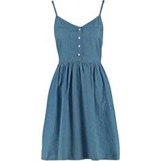 Dorothy Perkins Sukienka jeansowa plain