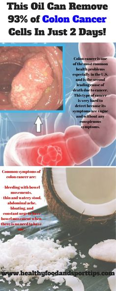 This Oil Can Remove 93% of Colon Cancer Cells In Just 2 Days!