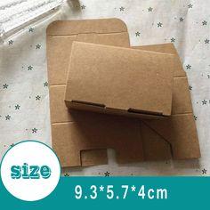 Aliexpress.com : Buy 9.3x5.7x4CM small kraft paper boxes Handmade soap Packaging…