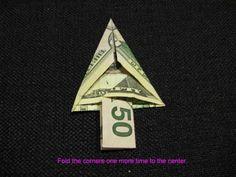 How to Fold a Christmas Money Tree