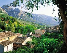 Spain, Europe: A view over the Mallorcan countryside
