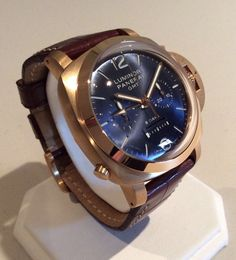Limited Edition Panerai Luminor GMT Rose Gold Watch $35000 FREE EXPEDITED DELIVERY