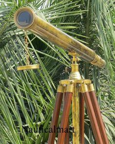 Antique Binocular Vintage Victorian 1941 Telescope Nautical Monocular Spyglass