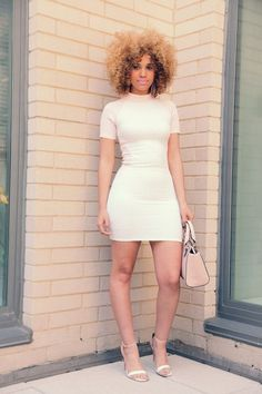 Gorgeous babe with natural curls: Curly Afro Hairstyles, Fashion, Dress, Hair Style, Natural Curls, Natural Hairstyles, Hair Color, Curly Hair, Natural Hair Outfit