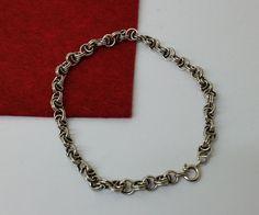 Antikes Silberarmband 835 Gliederband 19 mm SA191 von Schmuckbaron