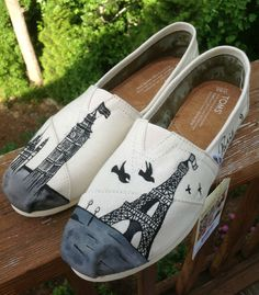 Custom Painted TOMS (Made-to-order) Full/Partial Shoe--ANY DESIGN on Etsy, $115.00